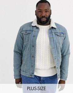 Голубая джинсовая куртка Brave Soul Plus-Синий