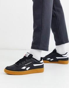 Черные кроссовки на резиновой подошве Reebok Club C Revenge-Черный