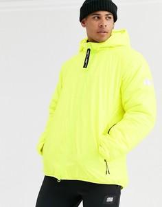 Неоново-желтая дутая лыжная куртка ASOS 4505-Желтый