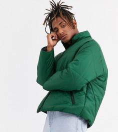 Зеленая дутая куртка COLLUSION-Зеленый