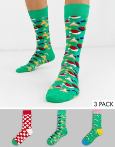Набор из 3 пар носков в подарочной упаковке Happy Socks-Мульти