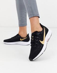 Черные кроссовки с логотипом-галочкой Nike Running Pegasus 36-Черный