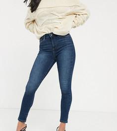 Синие джинсы скинни с завышенной талией Vero Moda Petite-Синий