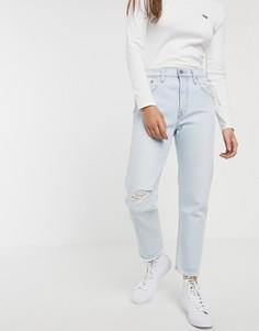 Голубые джинсы до щиколотки Levis 501-Синий
