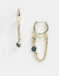 Золотистые серьги-кольца с цепочками & Other Stories-Золотой