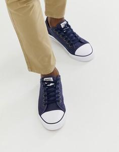Темно-синие кеды на шнуровке Dunlop-Темно-синий