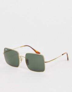 Квадратные солнцезащитные очки Ray-Ban 0RB1971-Золотой