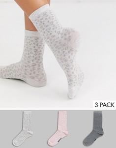 3 пары носков с леопардовым принтом Womensecret-Мульти Womensecret