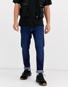 Темно-синие джинсы узкого кроя Bershka-Синий
