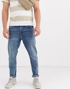 Синие узкие джинсы Bershka-Синий