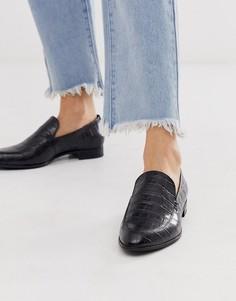 Черные кожаные туфли с рисунком крокодиловой кожи Vagabond - Frances-Черный