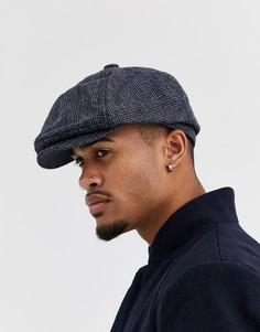 Серая кепка газетчика в гусиную лапку Burton Menswear-Светло-коричневый