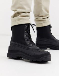 Черные водонепроницаемые ботинки на шнуровке ASOS DESIGN-Светло-бежевый