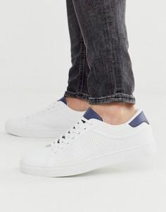 Белые кроссовки с синими вставками Loyalty & Faith-Белый