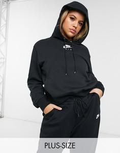 Худи черного цвета с логотипом на рукаве Nike Plus Air-Черный