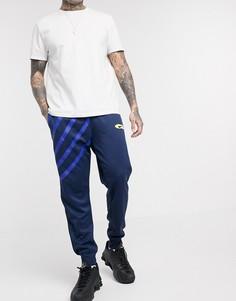 Темно-синие джоггеры с манжетами Nike Subset-Черный