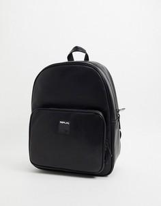 Черный рюкзак с логотипом Replay