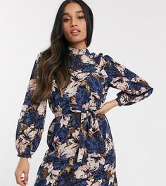 Фактурное платье мини с цветочным принтом Vero Moda Petite-Мульти
