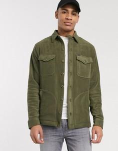 Зеленая флисовая рубашка-куртка Polo Ralph Lauren-Зеленый