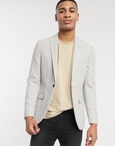 Светло-серый пиджак Topman