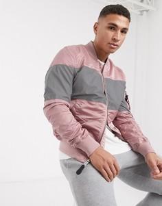 Куртка со светоотражающими вставками и карманом на рукаве Alpha Industries-Серебряный
