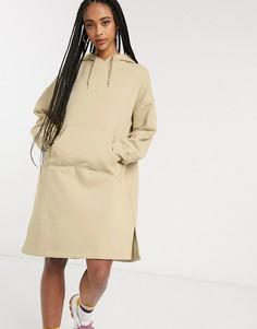 Бежевое платье-худи Monki-Бежевый