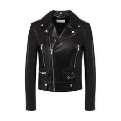 Куртки Saint Laurent Кожаная куртка Saint Laurent