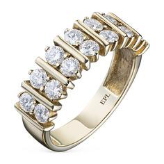 Кольцо из желтого золота с бриллиантом э03к021907 ЭПЛ Якутские Бриллианты