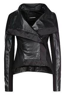 Кожаная куртка с отделкой La Reine Blanche