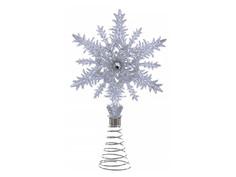 Украшение Kurt S. Adler Ёлочная верхушка Снежинка 20cm Silver J5036