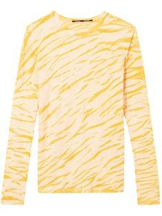 Proenza Schouler футболка с длинными рукавами и анималистичным принтом