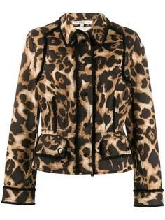 Gianfranco Ferré Pre-Owned куртка 1990-х годов с леопардовым принтом