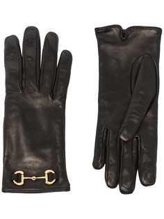 Gucci перчатки с пряжкой Horsebit