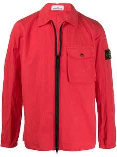 Stone Island куртка на молнии с накладным карманом