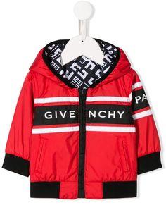 Givenchy Kids куртка с капюшоном и логотипом