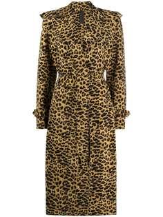 Norma Kamali пальто с леопардовым узором
