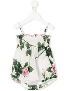 Dolce & Gabbana Kids боди с цветочным принтом