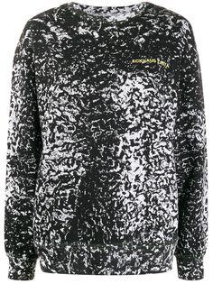 Eckhaus Latta свитер с длинными рукавами и абстрактным принтом