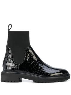 Loeffler Randall ботинки челси с тиснением под крокодила