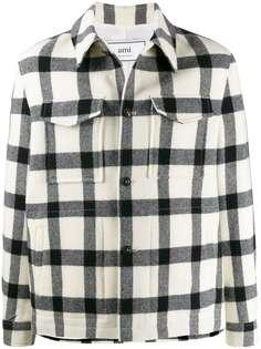 Ami Paris куртка в клетку гингем