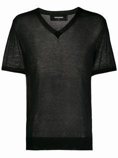 Dsquared2 прозрачная футболка с V-образным вырезом