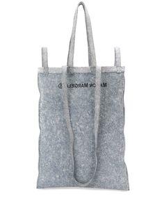 MM6 Maison Margiela джинсовая сумка-тоут с логотипом