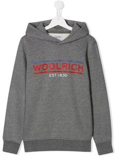Woolrich Kids худи с логотипом