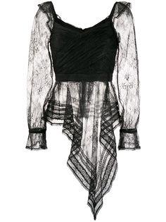 Self-Portrait кружевная блузка асимметричного кроя