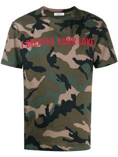 Valentino камуфляжная футболка I Breathe Your Love
