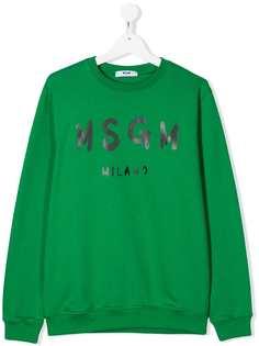 Msgm Kids свитер с длинными рукавами и логотипом