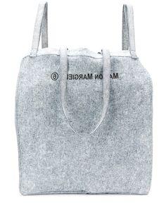 MM6 Maison Margiela джинсовая объемная сумка на плечо