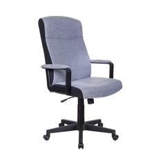 Кресло руководителя БЮРОКРАТ DOMINUS, на колесиках, ткань, серый [dominus/#g]