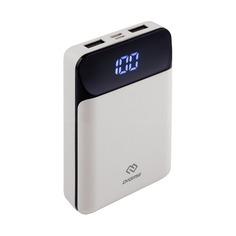 Внешний аккумулятор (Power Bank) DIGMA DG-10000-SML-W, 10000мAч, белый