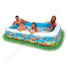 Бассейн-ванна надувной intex 305х183х56см с рыбками 58485